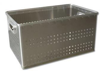 Aluminium-Stapelkörbe gelocht, 50 Ltr.