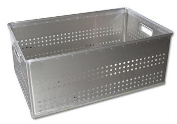 Aluminium-Stapelkörbe gelocht 82 Ltr.