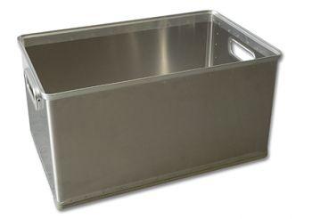 Aluminium-Stapelkörbe ungelocht, 50 Ltr.