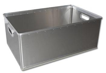 Aluminium-Stapelkörbe ungelocht 82 Ltr.