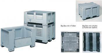 Großbehälter 1.200x800x760mm Vier Füße, 535 l Volumen