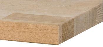 Buche-Massiv-Platte L x T x S  800 x 700 x 40 mm