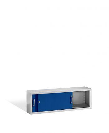 Aufsatzschrank+Mitteltrennwand 500x1600x400 lichtgr./blau