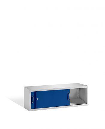 Aufsatzschrank+Mitteltrennwand 500x1600x500 lichtgr./blau