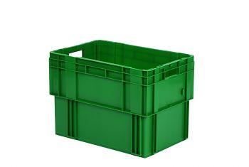 Drehstapelbehälter DTK, rot L 600 x B 400 x H 420mm