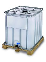 Container auf Holzpalette 1000l , Standardausführung