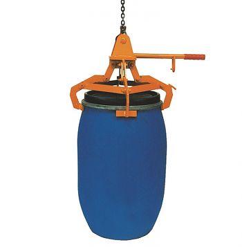 Fass-Spannklauengreifer für 120-l Kunststoff-Deckel-Fässer