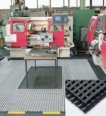 Industrierost grau H 18 x B 600 mm x lfm.