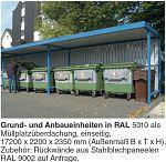 Überdachung Mod. Leipzig Anbaueinheit L 15 einseitig