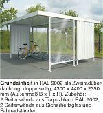 Überdachung Mod. Leipzig Grundeinheit L 44 beidseitig