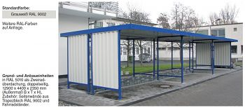 Überdachung Mod. Leipzig Anbaueinheit L 45 beidseitig