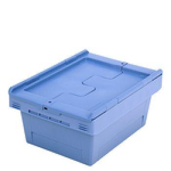 Mehrwegbehälter mit Klappdeckel LxB 410 x 300 mm, Inh. 16 Ltr.