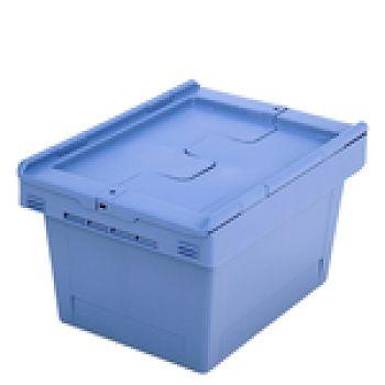 Mehrwegbehälter mit Klappdeckel LxB 410 x 300 mm, Inh. 18 Ltr.