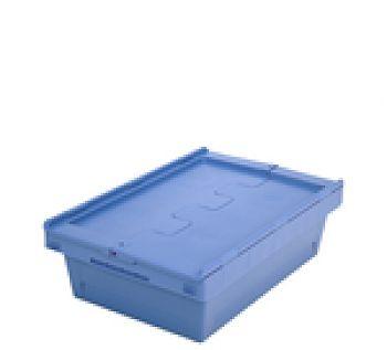 Mehrwegbehälter mit Klappdeckel LxB 610 x 400 mm, Inh. 29 Ltr.