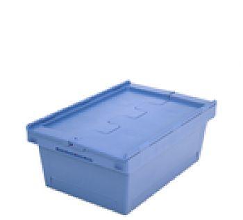 Mehrwegbehälter mit Klappdeckel LxB 610 x 400 mm, Inh. 38 Ltr.