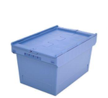 Mehrwegbehälter mit Klappdeckel LxB 610 x 400 mm, Inh. 58 Ltr.