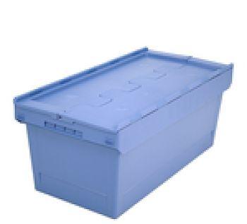 Mehrwegbehälter mit Klappdeckel LxB 800 x 400 mm, Inh. 76 Ltr.