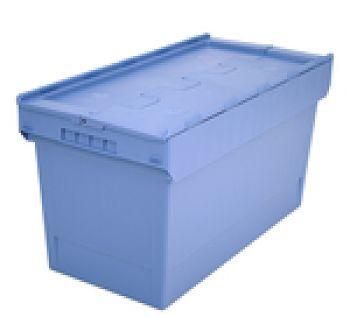 Mehrwegbehälter mit Klappdeckel LxB 800 x 400 mm, Inh. 100 Ltr.