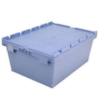 Mehrwegbehälter mit Klappdeckel LxB 800 x 600 mm, Inh. 115 Ltr.