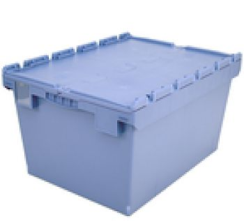 Mehrwegbehälter mit Klappdeckel LxB 800 x 600 mm, Inh. 154 Ltr.