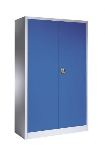 Materialschrank 1200 x 1950 x 400 mm Gehäuse/Türen hellsilber