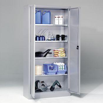 Materialschrank BxHxT 950x1950x400 mm Gehäuse/Türen hellsilber