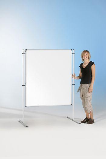 Stellwände zweiseitig, Emaille weiß, 100 x 120 cm