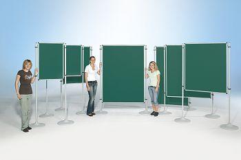 Stellwände zweiseitig, Emaille grün, 100 x 120 cm