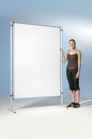 Stellwände zweiseitig, Emaille weiß, 120 x 150 cm