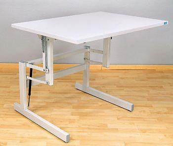 Sitz-/Steh-Arbeitstisch ergo P1 60x80cm,Plattendekor grau