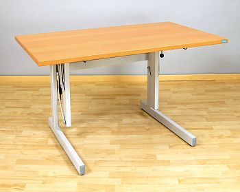 Sitz-/Steh-Arbeitstisch ergo P1 60x80cm,Platte buchedekor