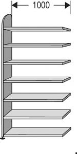 "Regalfeld ""Dante-contur"" HxBxT: 2.600 x 1.000 x 325 mm"