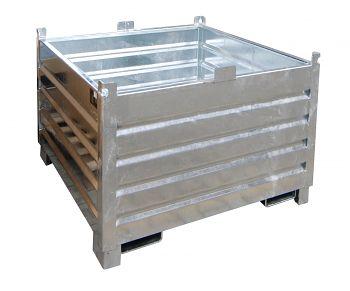 Sammelbehälter verzinkt LxBxH: 600 x 1200 x 850 mm