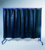 1-teilige Schutzwand mit Folienvorhang, dunkelgrün