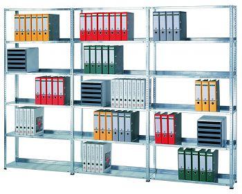 Büro-Schraubregal  GF RAL 7035 HxBxT: 1800 x 1000 x 300 mm, 5 Böden