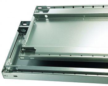 Zusatzfachboden 1000 x 300 mm verzinkt mit Anschlagleiste