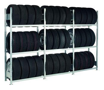 Reifengrundregal H 2000 x T 400 x B 1000 mm