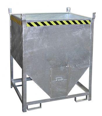 Silobehälter,verz.mit Schieber Inhalt 0,75m³,Tragkr. 1000kg
