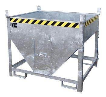 Silobehälter,verz.mit Schieber Inhalt 0,50m³,Tragkr. 750kg