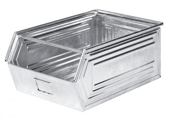 Sichtlagerkästen aus Stahlblech verzinkt,L 700/630 x B 450 x H 300 mm