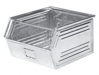 Sichtlagerkästen aus Stahlblech verzinkt,L 520/450 x B450 x H 300 mm