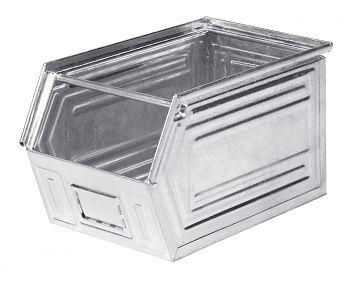 Sichtlagerkästen aus Stahlblech verzinkt,L 520/450 x B 300 x H 300 mm
