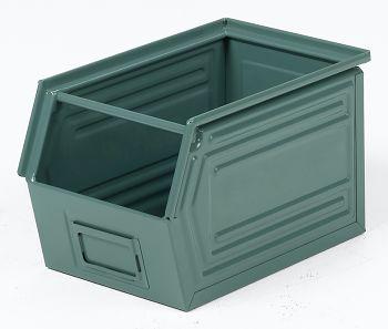 Sichtlagerkästen aus Stahlblech lackiert,L 350/300 x B 200 x H 200 mm