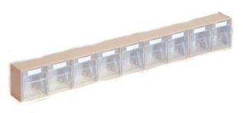 System-Elemente mit Gehäuse 600x62x77mm,9 Behälter