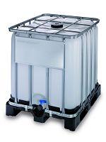Container auf Kunststoffpalette 1000l , Gefahrgutausführung