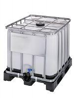 Container auf Kunststoffpalette 800l , Gefahrgutausführung