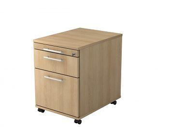 Roll-Container, Solid, Dekor: Eiche BxTxH: 428 x 580 x 590 mm