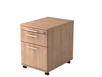 Roll-Container, Solid,Dekor: Nussbaum BxTxH: 428 x 580 x 590 mm