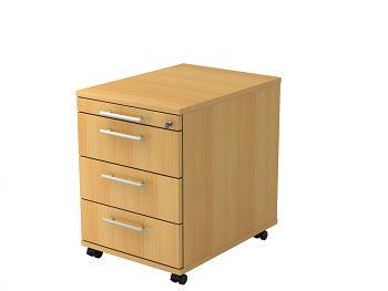 Roll-Container, Solid, Dekor: Buche BxTxH: 428 x 580 x 590 mm