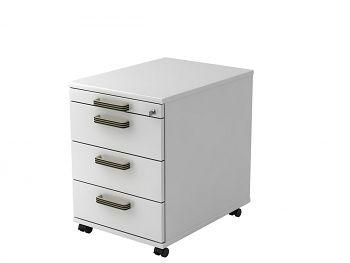 Roll-Container Serie H,  Dekor: Weiß BxTxH: 428 x 580 x 590 mm